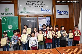 "CHILDREN'S TOURNAMENT OF ""BAKU-OPEN-2018"" INTERNATIONAL CHESS FESTIVAL CAME TO AN END"
