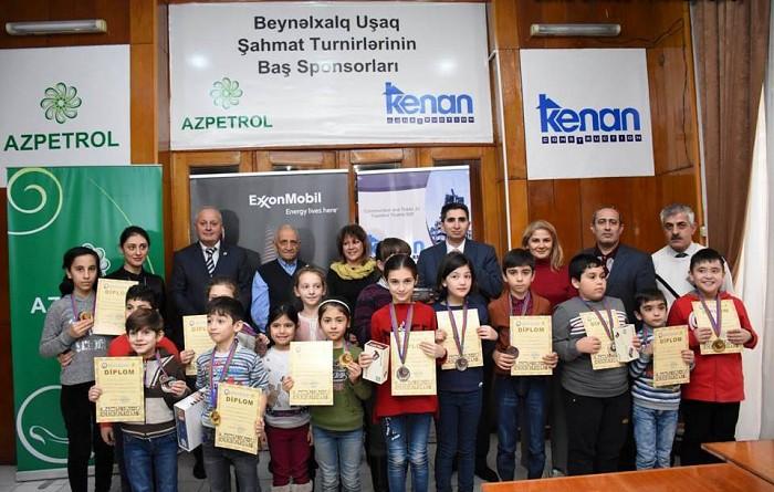 """""""BAKU OPEN – 2018"""" BEYNƏLXALQ ŞAHMAT FESTIVALININ UŞAQ TURNİRİ BAŞA ÇATDI"""