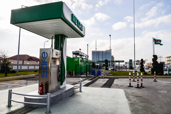 """The sale of CNG has begun at the """"Azpetrol""""`s """"Babek"""" gas station."""