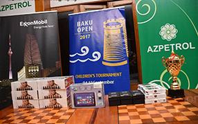 """Azpetrol şirkəti """"BAKU OPEN – 2017"""" Beynəlxalq şahmat festivalının uşaq turnirində sponsor oldu."""